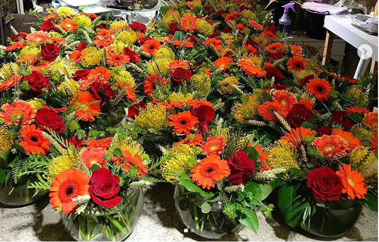 Bold & Beautiful Arrangements (with Gerbera Protea Roses Eucaluptus) ready to go